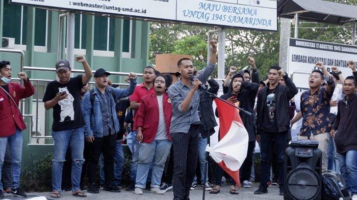 Mahasiswa Samarinda Gelar Aksi Tolak Revisi UU KPK, Serukan 5 Tuntutan