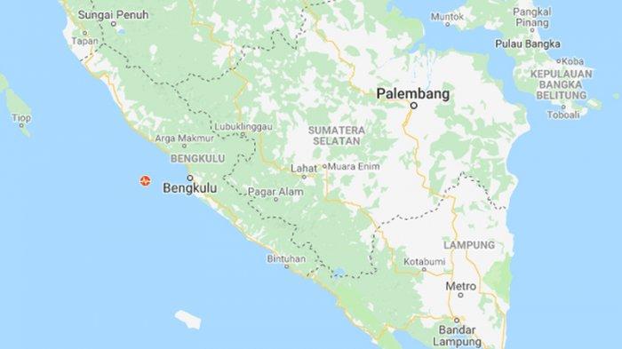 Ada Gempa M 5.0 Guncang Bengkulu, BMKG Telusuri Pusat Gempa Kedalaman 10 Km Barat Daya