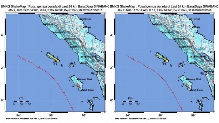 BREAKING NEWS Gempa dengan Magnitudo 6,4 Guncang Singkil, Tapak Tuan, Nias, Medan, hingga Meulaboh