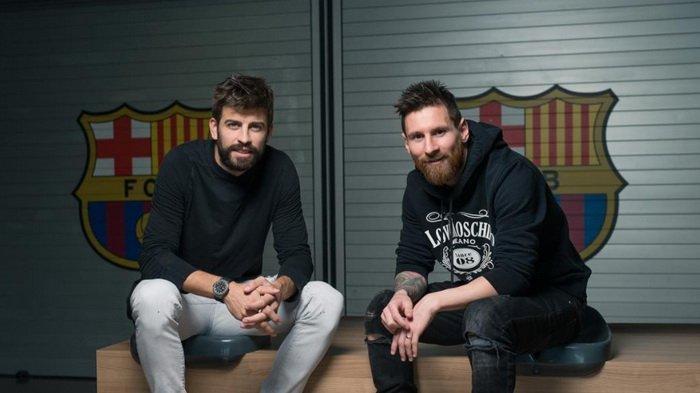 Berkaitan dengan Bursa Transfer, Lionel Messi dan Pique Sekarang Tak Saling Sapa, Barcelona Memanas
