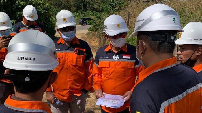 GM PLN UIP Kalbagtim Tinjau Proyek SUTT 150kV Tanjung Redeb - Tanjung Selor