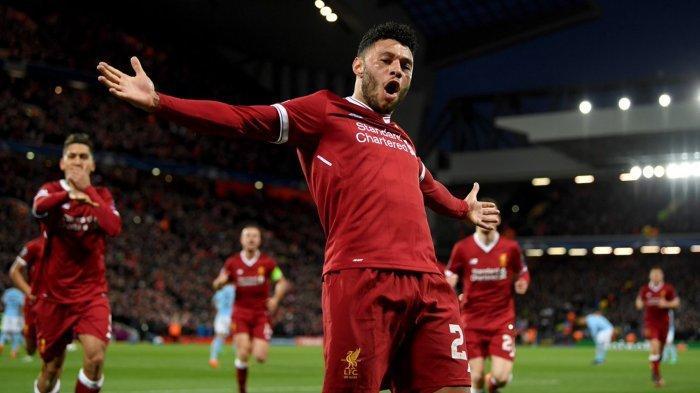 Hasil Liga Champions, Liverpool vs Genk, Chamberlain Cetak Gol Penentu, The Reds Menang Tipis 2-1