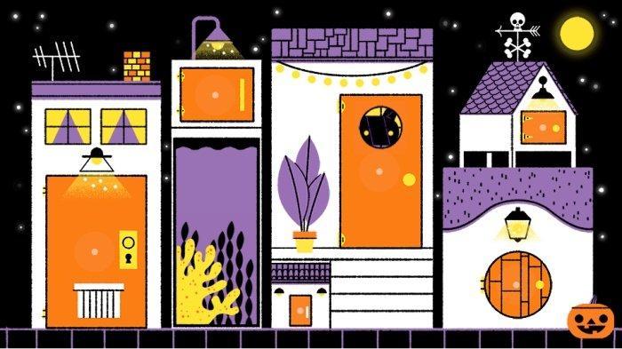 Seru Google Doodle Hari Ini 31 Oktober 2019 Tema Halloween, Ada Sejumlah Hewan, Klik Trick or Treat