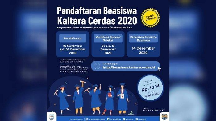 Pendaftaran Kaltara Cerdas 2020 Dibuka, 16 November hingga 16 Desember 2020