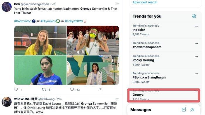 Gronya Somerville jadi trending topic Twitter. Ada yang bandingkan dengan Thet Htar Thuzar