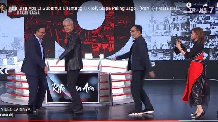 Kaki Ridwan Kamil Nyaris Mengenai Ganjar Pranowo, Serunya 3 Capres RI Versi LSI TikTok di Mata Najwa