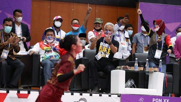 Dapat Semangat Langsung dari Ganjar, Tim Sepak Takraw Putri Jateng Raih Medali Emas PON XX Papua