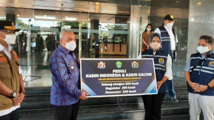 Gubernur Isran Noor Terima Bantuan 200 Set Oksigen dari Kadin Kaltim