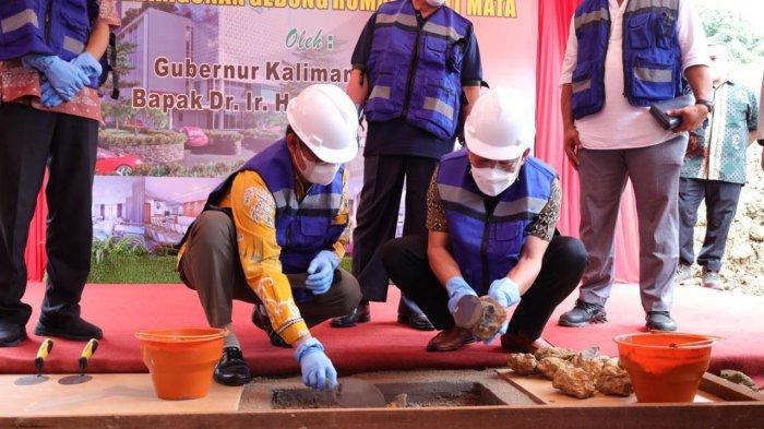 Gubernur Kaltim Groundbreaking RS Mata, Ditargetkan Dua Tahun Rampung