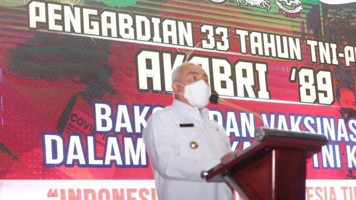 Apresiasi TNI-Polri di Serbuan Vaksinasi, Gubernur Kaltim Isran Noor: Cuma Bisa Bilang Terima Kasih