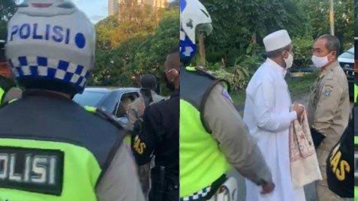 Polisi Akhirnya Bongkar Identitas Pria Gamis Putih yang Memaki Petugas saat PSBB Surabaya