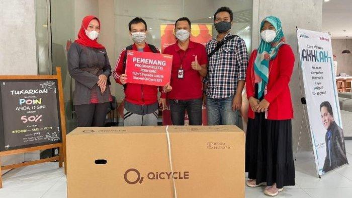 Ikuti Program Rezeki POIN OMG!, Pelanggan Telkomsel di Tarakan Raih Sepeda Listrik
