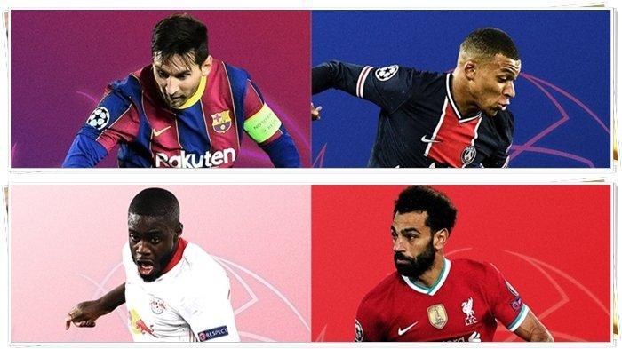 Jam Tayang Liga Champions Malam Ini, Barcelona vs PSG, Leipzig vs Liverpool, Live SCTV & Vidio.com