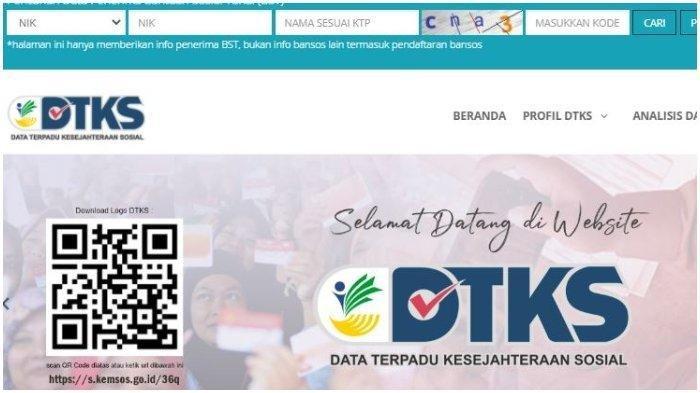Akses www.dtks. kemensos. go. id untuk Cek Bansos Rp 300 Ribu, Siapkan NIK atau KTP, Cara Mencairkan