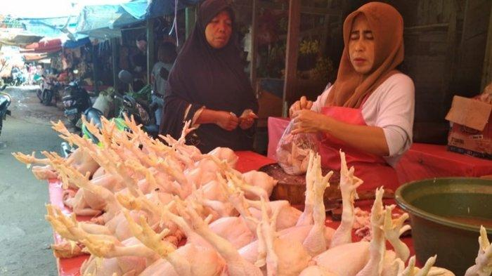 Jelang Ramadan, Harga Daging Ayam di Balikpapan Turun Rp 10 Ribu, Tapi Pembeli Jarang Keluar Rumah