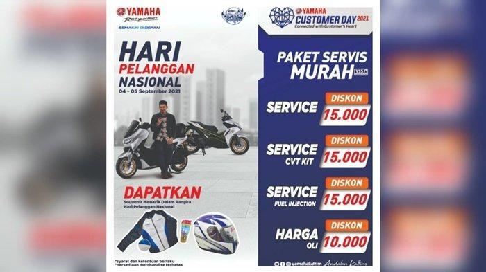 Hari Pelanggan Nasional, Yamaha Kaltim Siapkan Paket Servis Murah dan Hadiah Langsung Menarik