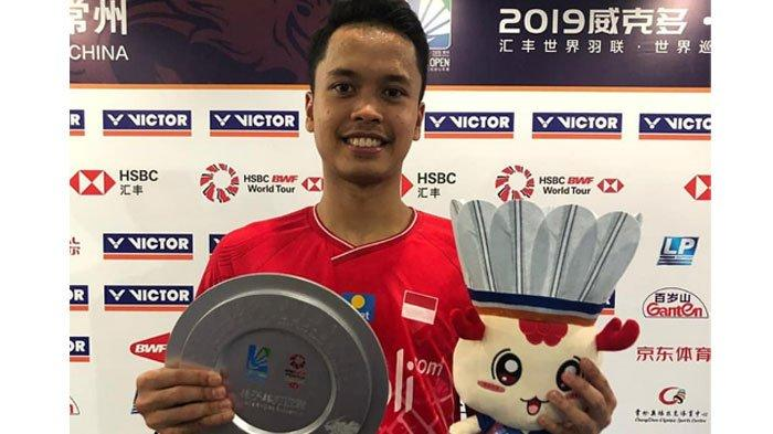 Hasil China Open 2019 - Anthony Ginting Runner Up, Rekor Kento Momota Belum Terkalahkan