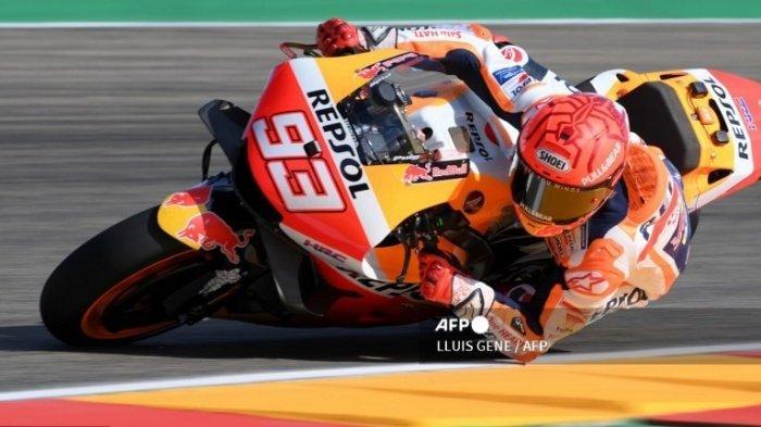 Hasil FP1 dan FP2 MotoGP Aragon Hari Ini, Marc Marquez Emosi hingga Fabio Quartararo Alami Gangguan