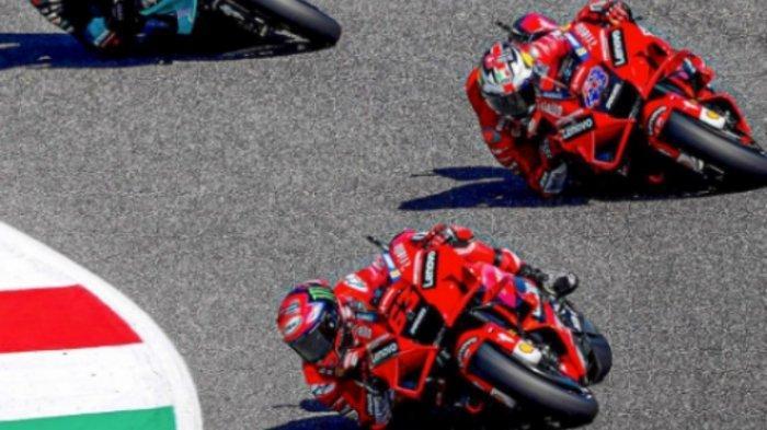 Hasil FP3 MotoGP Italia 2021, Francesco BagnaiaTercepat, Valentino Rossi di Belakang Marc Marquez