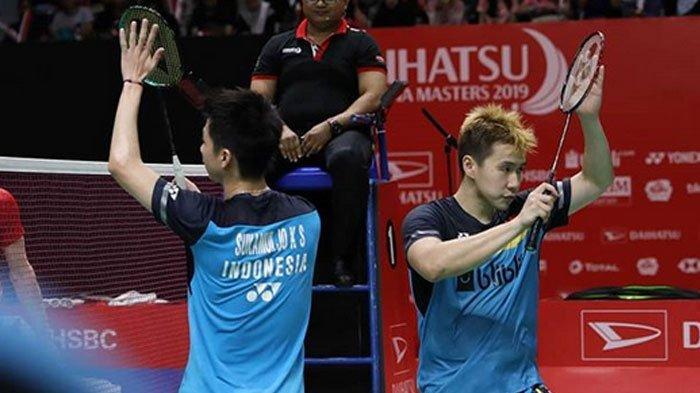 Hasil Indonesia Masters 2019 - Derby Merah Putih, Marcus/Kevin Juara, Ahsan/Hendra Runner Up
