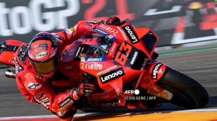 Hasil Kualifikasi MotoGP Aragon 2021, Francesco Bagnaia Pole Position, Valentino Rossi Terlempar