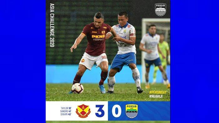 HASIL AKHIR Persib vs Selangor FA Asia Challenge 2020, Maung Bandung Ditaklukkan 3 Gol Tanpa Balas!