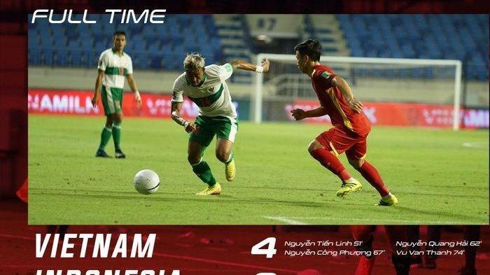 Hasil Timnas Indonesia vs Vietnam, Misi Gagal Total, Tim Garuda Babak Belur