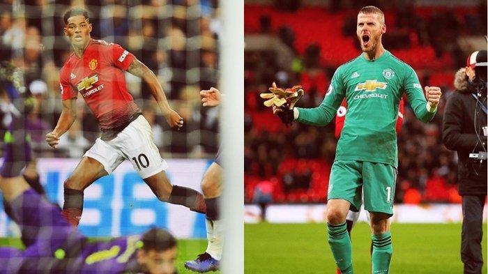 Hasil Liga Inggris Tottenham vs Manchester United, Rashford dan De Gea Menggila!