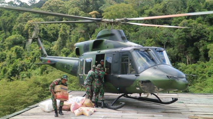Medan Extrem di Perbatasan Negara, Helikopter TNI Mendarat di Helipad Jabuk, Ini Kisah para Prajurit