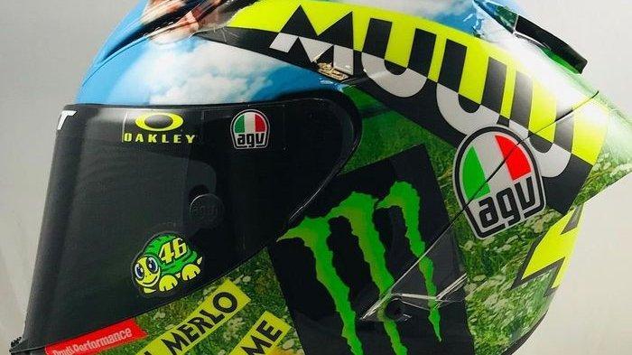 Helm baru Valentino Rossi di MotoGP Italia 2021
