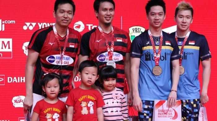 Final Indonesia Open 2019 - Head to Head Marcus/Kevin vs Ahsan/Hendra, Catatan Rekor Sejak 2015