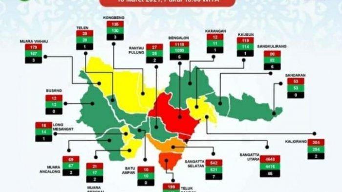 8 Kecamatan di Kutai Timur Zona Hijau, Wilayah Kaubun Nol Paparan Covid-19, Bengalon Masih Merah