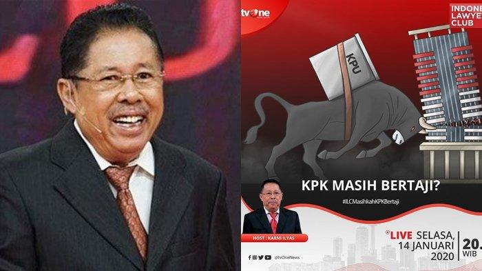 ILC TV One Malam Ini Bahas KPK dan Suap Kader PDIP, Karni Ilyas Ditantang Hadirkan Hasto Kristiyanto