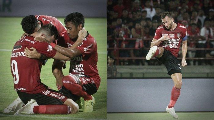 Air Mata Ilija Spasojevic untuk Mendiang Istri usai cetak gol Bali United ke gawang Persib Bandung