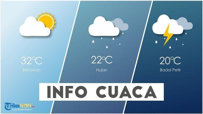 Prakiraan Cuaca Hari ini Sabtu 25 September 2021, Ini Wilayah yang Berpotensi Terjadi Hujan Petir