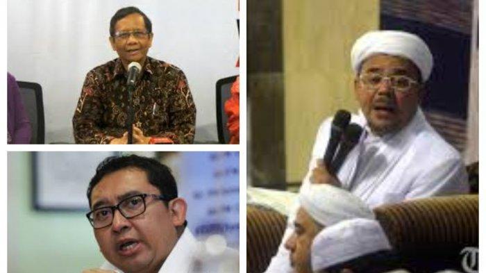 Duduk Perkara Pencekalan Rizieq Shihab FPI, Keraguan Mahfud MD, Pesanan Fadli Zon dan Janji Prabowo