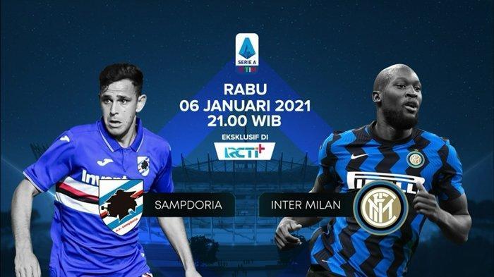 Jadwal Liga Italia, Sampdoria vs Inter Milan, Lukaku Absen, Conte Punya Duet Baru, Streaming RCTI!
