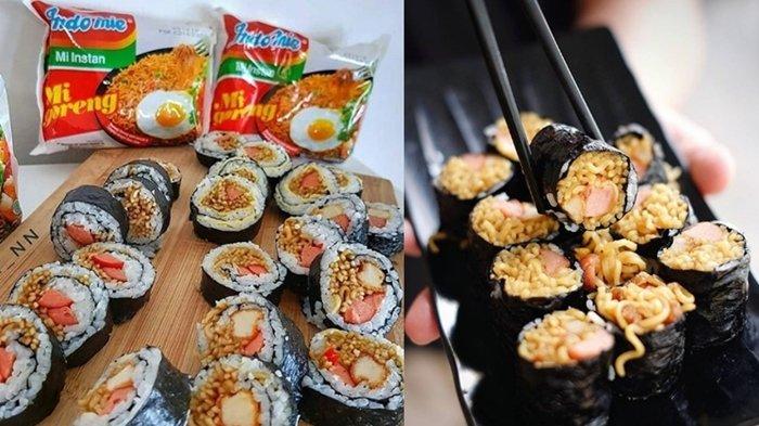 Tinggalkan Donat Dan Onigiri Kini Ada Kreasi Indomie Terbaru Bentuk Sushi Begini Cara Bikinnya Tribun Kaltim
