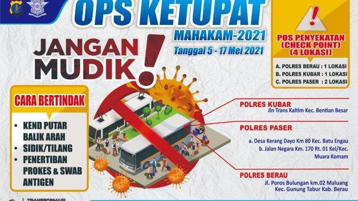 INFOGRAFIS Ops Ketupat Mahakam 2021, Tanggal 5-17 Mei 2021, TRIBUNKALTIM.CO, MOHAMMAD FAIROUSSANIY