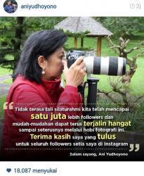 Ani Yudhoyono Berterimakasih kepada 1 Juta Pengikutnya di Instagram