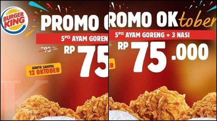 KATALOG PROMO Burger King hingga 12 Oktober 2020, 5 Ayam ...