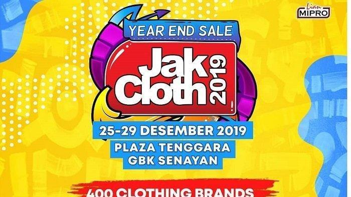 Simak Harga Tiket Masuk Jakcloth Year End Sale 2019 Untuk Rayakan Liburan Tahun Baru 2020 di Jakarta