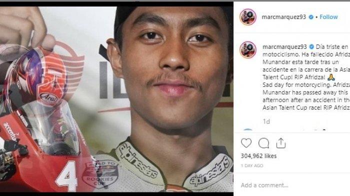 Ucapan Duka Marc Marquez untuk Pebalap Afridza Munandar, 'Sad Day for Motorcycling'
