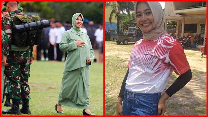 Perankan Istri Prajurit yang Hamil Tua dalam Drama Kolosal HUT Ke 74 TNI, Ini yang Dilakukan Intan