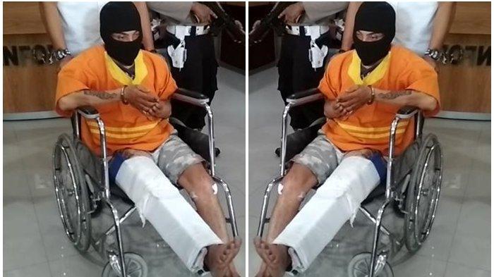 Melawan Pakai Pisau Saat Ditangkap, Pria Pembunuh Janda di Balikpapan Dihadiahi Polisi dengan Ini