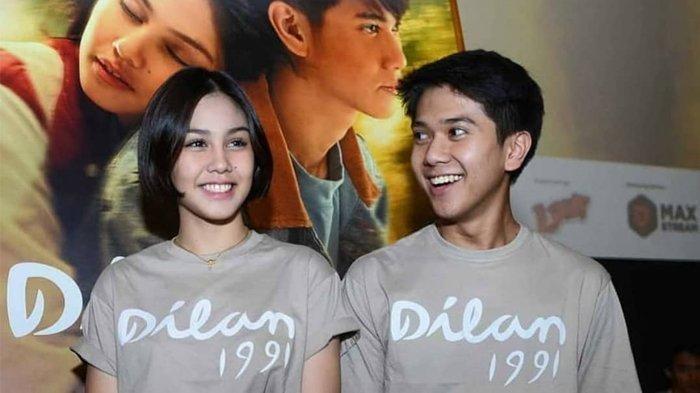 Iqbaal Ramadhan dan Vanesha Prescilla pemeran Dilan dan Milea di film Dilan 1991.