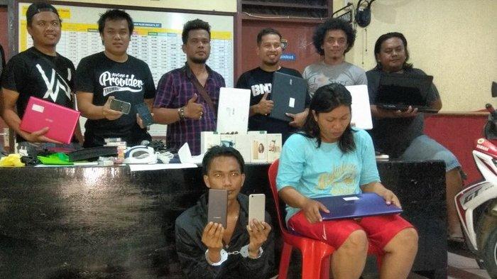 Pencuri Ponsel dan Laptop di 5 TKP Tertangkap, Wanita Ini Ikut Diamankan - Tribun Kaltim