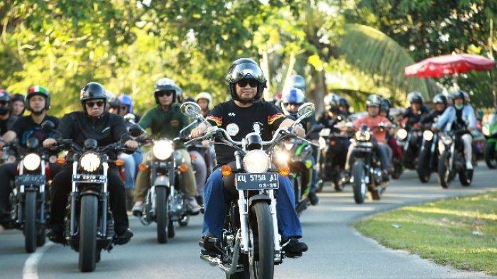 Konvoi Bersama Komunitas Motor Keliling Tanjung Selor, Gubernur Irianto Ajak Disiplin Berkendara
