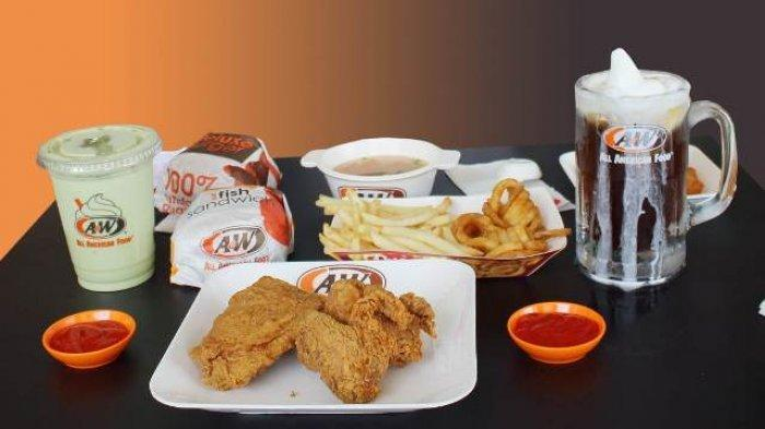 KATALOG PROMO A&W Sabtu 20 Februari 2021, Beli 1 Gratis 1 hingga 3 Burger dan 3 Minuman Rp 80.000
