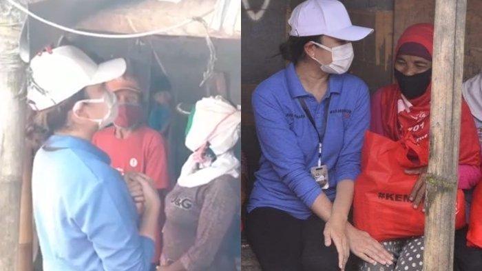Detik-detik Tangis Istri Mensos Juliari Batubara Pecah di Rumah Pemulung saat Salurkan Bansos